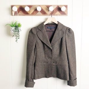 FRENCH CONNECTION l Wool Tweed Blazer